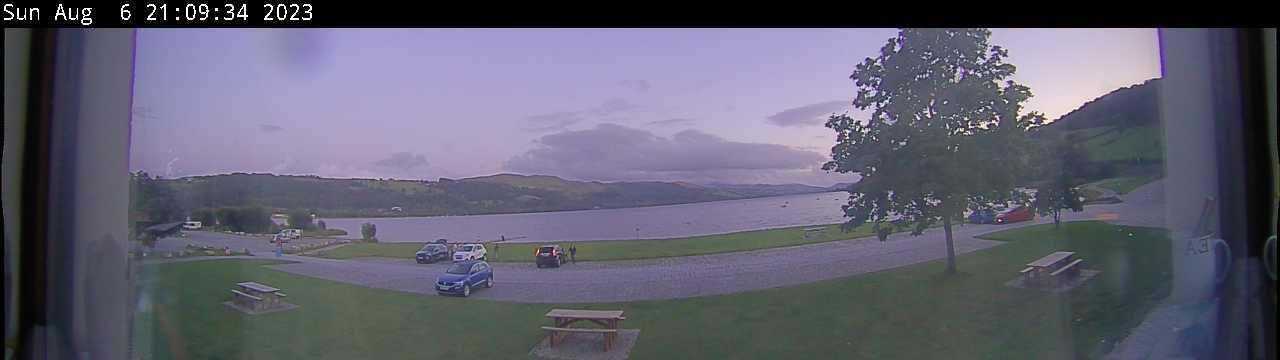Live webcam view of Llyn Tegid